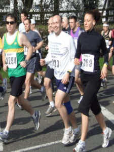 Mike running in the London Marathon
