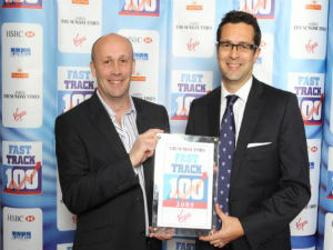 Ken and Mike receiving the top 100 award
