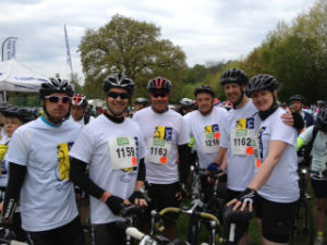 cycle ride group photo