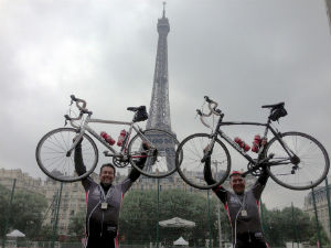 ken and lee london to paris bike ride